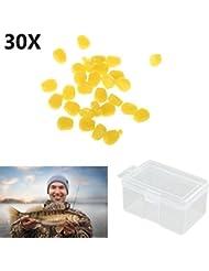 Forfar Pêche de maïs carpe Appâts 1 Box L'appât Lure pêche à la carpe Maïs Assortiment flottant Accessoires Artificielle poisson Outil s'attaquer à