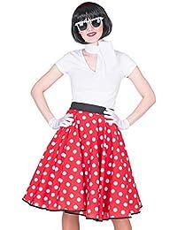 FBA Fifties Petticoat Tellerrock mit Halstuch - Rock´n Roll Kostüm im 50´s 99053221fd