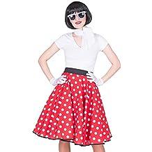 605f2c454c6912 FBA Fifties Petticoat Tellerrock mit Halstuch - Rock´n Roll Kostüm im 50´s