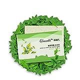 KAYI Frische Grüner Tee Öl absorbierende Blätter - 80 Zählungen, große Größe Öl Blotting Papier - ölige Gesichtshaut, Akne neigende Haut täglichen Gebrauch