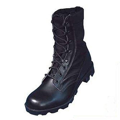 US - Stivali da giungla, stile esercito Nero - nero