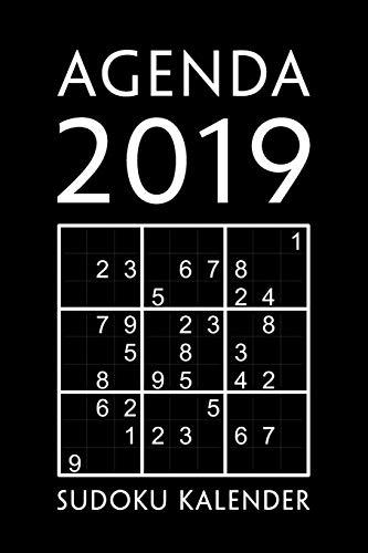 Agenda 2019 - Sudoku Kalender: 1 Woche auf 1 Seite, ca. A5   Jan - Dez Wochenplaner mit 330 Sudoku Rätsel   Wöchentliche Herausforderungen mittel bis extrem schwer   Schwarz