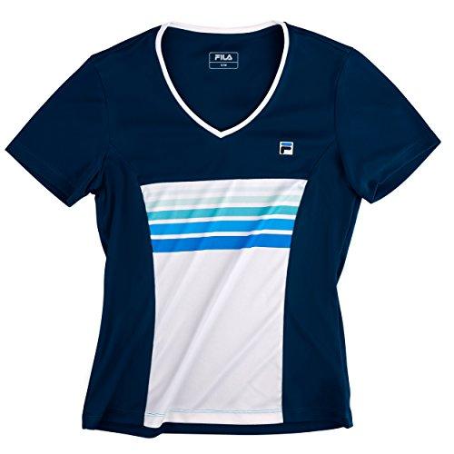 Fila xSGr. t-shirt tira hW13 pull avec col montant-taille xS XS,S,M,L,XL Bleu - Bleu/blanc