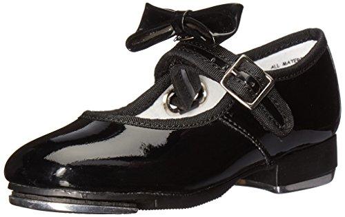 Capezio Mädchen Mary Jane Halbschuhe, schwarzer Lack, 6.5m - Children's Tap Dance Kostüm