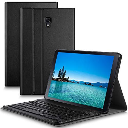 Slim Custodia con 7 Colori Retroilluminata Rimovibile Wireless Tastiera per iPad 7a Generazione 2019 10.2 Pollici IVSO Backlit Tastiera Custodia per iPad 10.2 2019 Black QWERTY English