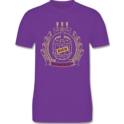 Oktoberfest Herren - Bierfass Ähren - Herren Premium T-Shirt Lila