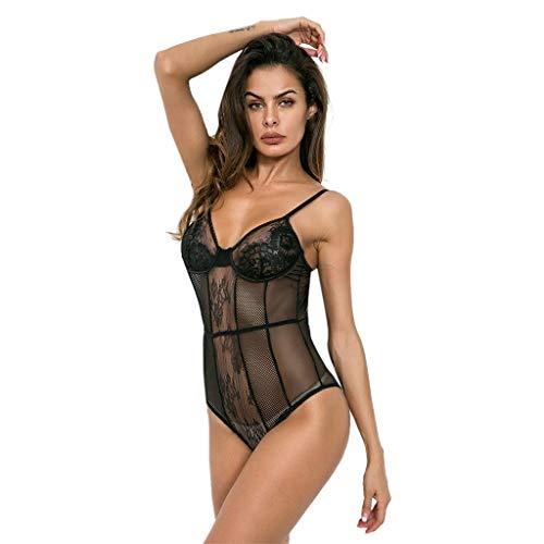 TianWlio Damen Dessous Sexy Dessous Nachtwäsche Spitze Kleid Unterwäsche Perspektive Backless Overall