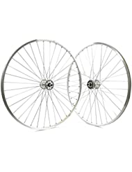 """'Ridewill Bike Paire Roues 28""""douilles Vintage Fixed radiale Silver (clipser fixe)/pair 28Wheels Eyeletted Vintage Fixed Radial Silver (Fixed Wheel)"""