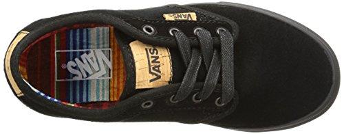 Vans Y Atwood Deluxe Suede, Baskets Basses Mixte Enfant Noir (Suede/Black/Blanket)