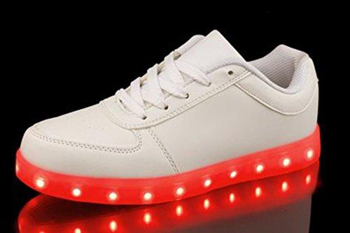 JUNGLEST Versand aus DE - Retwin LED Sneaker Farbwechsel Unisex Dame kleines Handtuch Weiß 2