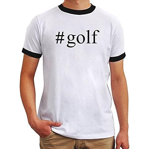 Maglietta Ringer #Golf Hashtag