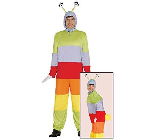 Wurm Monster Kostüm für Erwachsene Damen Herren Regenwurm Raupe Tier Gr. M/L, Größe:L