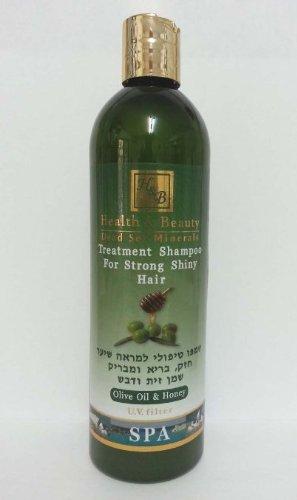 Mer Morte cosmétique - Health and Beauty Dead Sea Minerals - Shampoing traitant à l'huile d'olive et miel - 400 ml