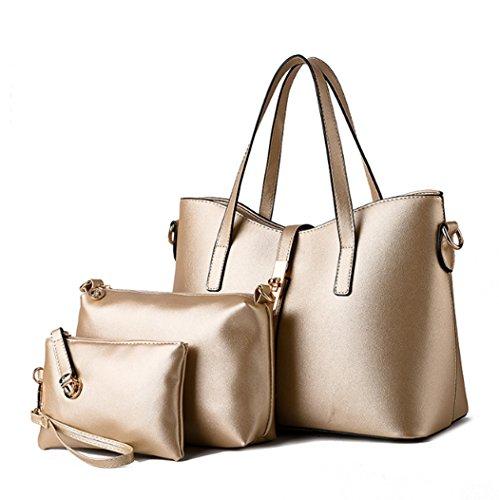 borsa tracolla Travel Borsa Bag in pelle viaggio doro Un da a borsa Womens Hot insieme sintetica di tre Fashion pezzi xZ4qTOC