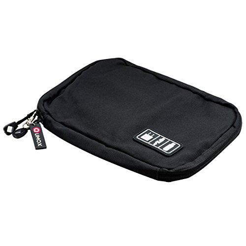 QUMOX Reise Kabel USB Organisator Speicher Beutel Kasten Tasche Schwarz Fach-speicher-kasten