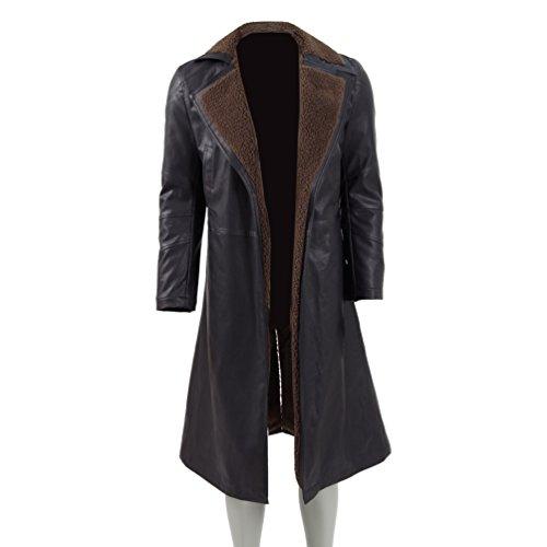 CosDaddy ® Cosplay Pelzmantel Mantel Herr Braun Parka (Herr-2XL, (Blade Runner Deckard Rick Kostüm)
