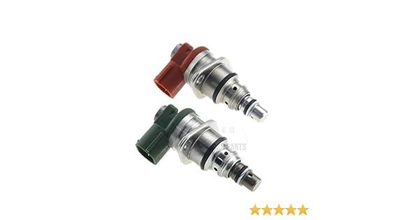 Lot de 2 r/égulateurs de pompe /à carburant rouge et vert pour Previa RAV4 II I II 2.0 D-4D D4D 096710-0052 096710-0062