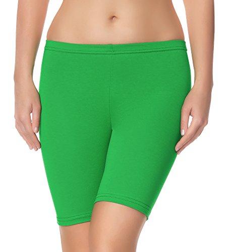 Ladeheid Damen Shorts Radlerhose Unterhose Hotpants Kurze Hose Boxershorts LAMA04 (Grün4, S/M (Herstellergröße: 36/38)) -