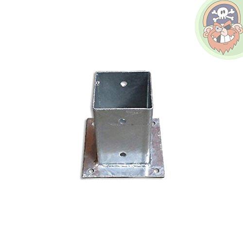 Pfostenhülse Aufschraubhülsen für Pfosten 9x9 cm mit Bodenplatte von Gartenpirat®