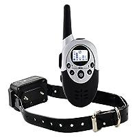 Collier de dressage de chien électrique rechargeable hautement étanche télécommandé sans fil à portée de 1000 mètres avec LCD écran