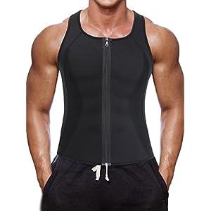 Herren Sport Tank Top Neopren Sweat Korsett Weste Body Shapewear für Abnehmen