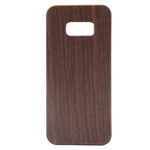 Samsung S8Plus Fall Holz Getreide, Blau Loch 15,7cm Echt Holz Case Bumper mit PC Dual Layer Schützen Schutzhülle für Samsung Galaxy S8Plus, Walnuss -