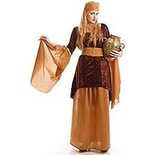Disfraz de Posadera Medieval marrón para mujer