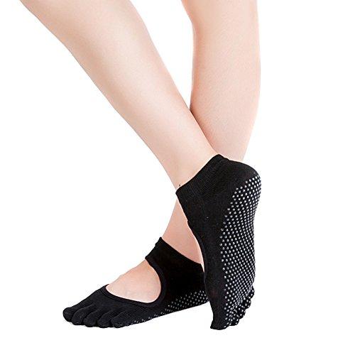 TININNA 3pares algodón cortan calcetines ejercicio de fitness yoga