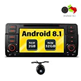 Freeauto für BMW E46/320/325 Quad Core 17,8 cm (7 Zoll) Android 8.1 Autoradio mit Multi-Touch-Bildschirm CD-/DVD-Player GPS Video-Bildschirm OBD2 Wifi
