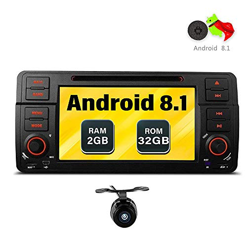 Freeauto per BMW E46/320/325 Quad Core 17,8 cm Android 8.1 autoradio schermo multi-touch radio CD DVD Player GPS video Screen mirroring OBD2