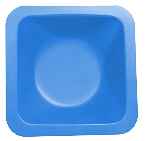 Heathrow Scientific HD120223 Wägeschälchen, Standard, Antistatisch, Polystyrene, 85 mm Länge x 85 mm Breite x 24 mm Tiefe, Blau (500-er Pack)