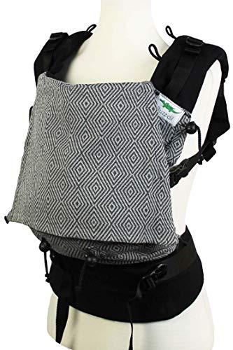 Buzzidil Diamond Dust Marsupio ergonomico | XL cresce col bambino dai 8-48 mesi | porto sulla pancia, sulla schiena, utilizzabile come appoggio sul fianco