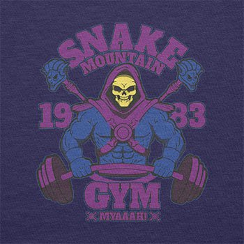 TEXLAB - Snake Mountain Fitness - Herren T-Shirt Navy