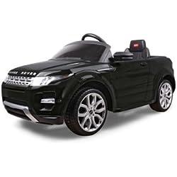 BABYCAR 81400N–Coche eléctrico para niños Evoque Range Rover con mando a distancia, 12V, Negro