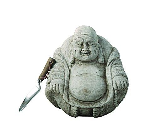 Statue Happy Outdoor Buddha (Garden Ornaments von onefold BU15Medium Happy Buddha Stein Garten Statue, grau, 40x 40x 45cm)