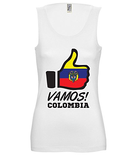 Artdiktat Damen Tank Top – Like WM 18 – Vamos Colombia – Russia Russland