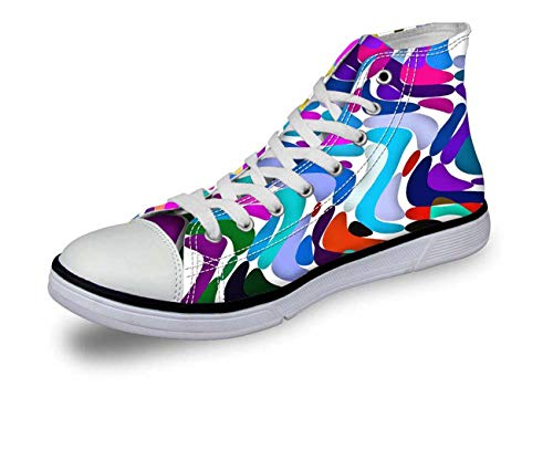 Cool Women's Shoes Fashion High Top Casual Canvas Sneakers Running Shoes Lace Up CA5486AK Women¡®s us Size 8