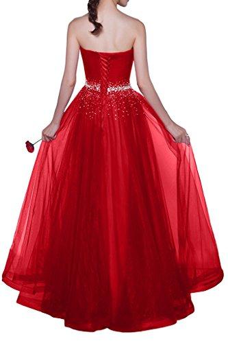 Promgirl House - Robe - Trapèze - Femme rouge foncé