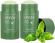 MENGSIQI Green Tea Purifying Clay Stick Mask, Deep Clean Pore(2pcs)