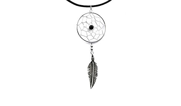 Traumfänger Anhänger mit Federn Indianer Adler Sonne 925 Sterling Silber Gothic