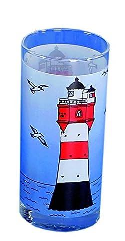 Glas Leuchtturm Roter Sand