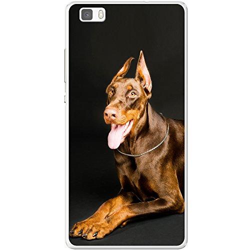 Porträt von liegendem braunem Dobermann Hartschalenhülle Telefonhülle zum Aufstecken für Apple iPhone 6 / 6s Liegender brauner Dobermann