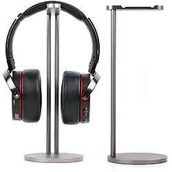 Duragadget Stand en Aluminium Gris pour pour Casques Audio KEF M500, LTC Audio Foldable High Definition Headphones et LTC Audio HDJ802 - Haute qualité