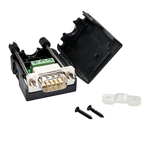 oiyagai 2Pcs db9-g39Pins Stecker Adapter mit Mutter Anschluss RS232Seriell zu RXD TXD GND 235Terminal Male with Screw -