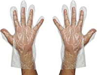 Pin to Pen Transparent Plastic Disposable Gloves For Home And Office Use (Free Size Pack of 50)