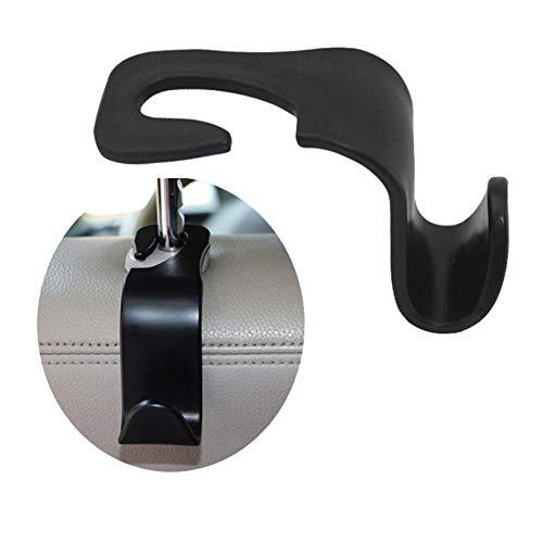 Dandeliondeme 1 Paar Universal-Halterung für Autositz-Rücksitz-Aufbewahrungshaken Kopfstützen-Halterung für Küche, Badezimmer, Wand, Schränke, Einfarbig