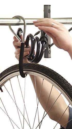 Mottez M045C - Soporte de pared para 5 bicicletas