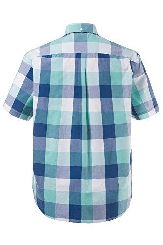 JP 1880 Homme Grandes tailles Chemise à carreaux et manches courtes 708338 bleu turquoise