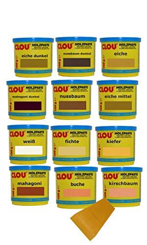 CLOU Holzspachtel (12 x 150g, hell + dunkel)
