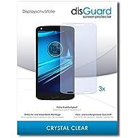 3 x disGuard Crystal Clear Lámina de protección para Motorola Droid Turbo 2 - ¡Protección